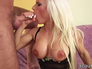 Hot Step-Mom in Lingerie Need Big Dick of Him and Fuck
