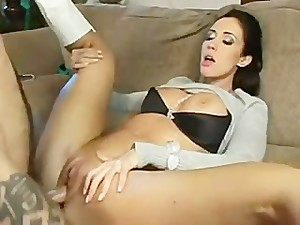 hot stepmom Kimberly Kole helps out his stepson