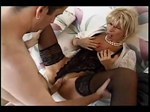 Mom sucks her step-son's dick then gets fucked by him