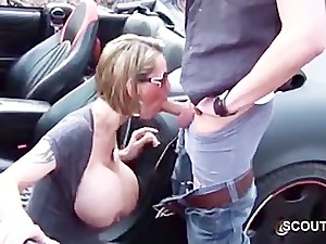 German Step-Mom With Monster Tits get caught