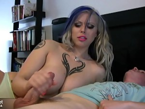 Teen boy gets nic handjob from step mom