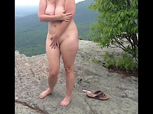 No panties hike and public fuck