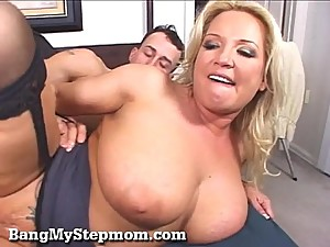 Busty Blonde Wife Cheats With Her Stepson!