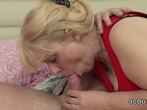 Mom wakes up german step-son to get fuck in asshole