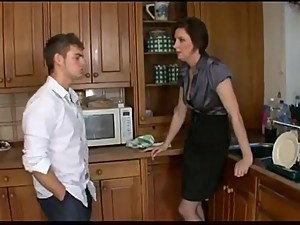 Nasty mom to friends and fuck step-son
